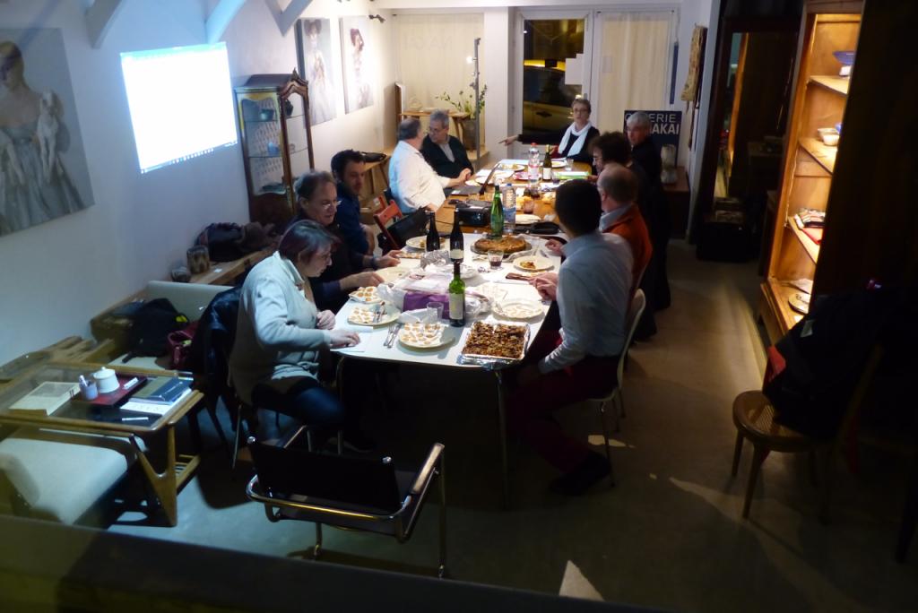 vergaderen en eten in frankrijk